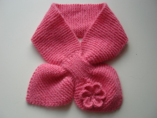 Knitting Pattern Bow Knot Scarf : BABY BOW TIE SCARF KNITTING PATTERN   KNITTING PATTERN